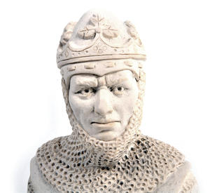 Robert the Bruce Statuette - Famous Faces Collection Plaster Bust Thumbnail 3