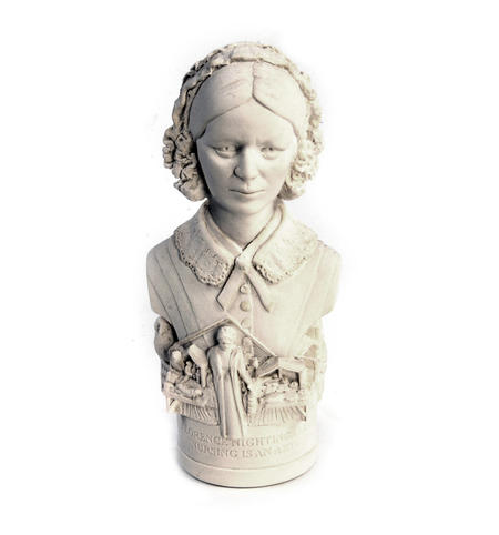 Florence Nightingale Statuette - Famous Faces Collection Plaster Bust