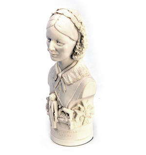 Florence Nightingale Statuette - Famous Faces Collection Plaster Bust Thumbnail 2