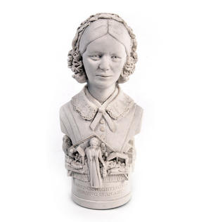 Florence Nightingale Statuette - Famous Faces Collection Plaster Bust Thumbnail 3