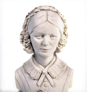 Florence Nightingale Statuette - Famous Faces Collection Plaster Bust Thumbnail 4