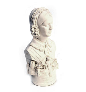 Florence Nightingale Statuette - Famous Faces Collection Plaster Bust Thumbnail 5