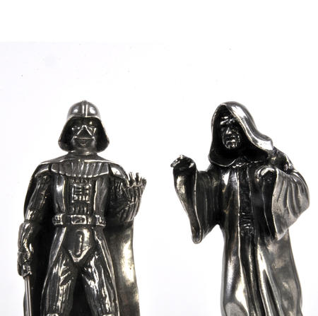 Sidious and Vader - King and Queen Star Wars Chess Pieces by Royal Selangor