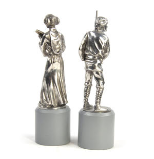Luke and Leia - King and Queen Star Wars Chess Pieces by Royal Selangor Thumbnail 5