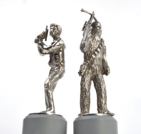 Han Solo and Chewbacca - Bishop Star Wars Chess Pieces by Royal Selangor
