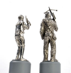 Han Solo and Chewbacca - Bishop Star Wars Chess Pieces by Royal Selangor Thumbnail 2