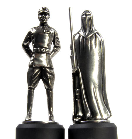 Imperial Officer and Royal Guard - Bishop and Knight Star Wars Chess Pieces by Royal Selangor
