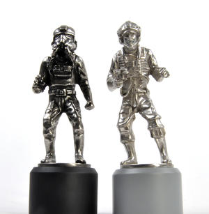 Rebel and Imperial Pilot  - Rook Star Wars Chess Pieces by Royal Selangor