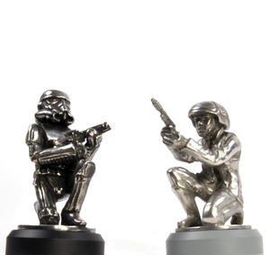 Rebel Trooper and Stormtrooper  - Pawn Star Wars Chess Pieces by Royal Selangor Thumbnail 1