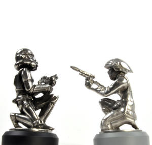 Rebel Trooper and Stormtrooper  - Pawn Star Wars Chess Pieces by Royal Selangor Thumbnail 2