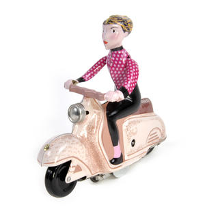 Scooter Girl - Pink - Super Mod Clockwork Collector's Toy Thumbnail 2