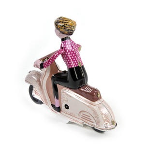 Scooter Girl - Pink - Super Mod Clockwork Collector's Toy Thumbnail 4