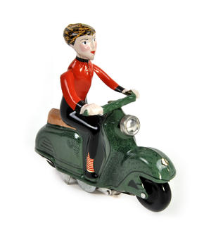 Scooter Girl - Green - Super Mod Clockwork Collector's Toy Thumbnail 1