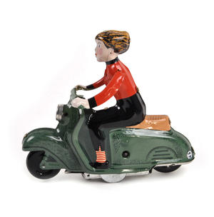 Scooter Girl - Green - Super Mod Clockwork Collector's Toy Thumbnail 2