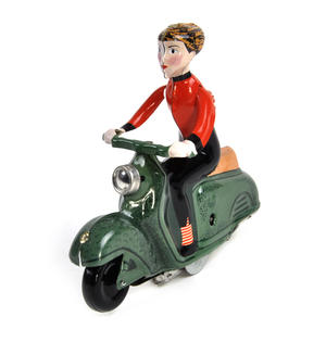 Scooter Girl - Green - Super Mod Clockwork Collector's Toy Thumbnail 3
