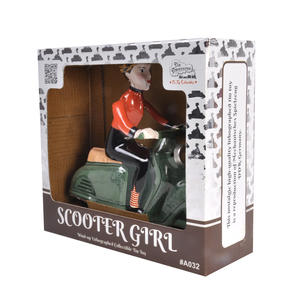 Scooter Girl - Green - Super Mod Clockwork Collector's Toy Thumbnail 5