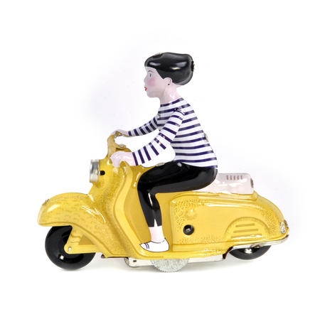 Scooter Girl - Yellow - Super Mod Clockwork Collector's Toy