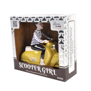 Scooter Girl - Yellow - Super Mod Clockwork Collector's Toy Thumbnail 4