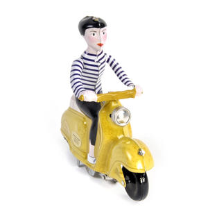 Scooter Girl - Yellow - Super Mod Clockwork Collector's Toy Thumbnail 5