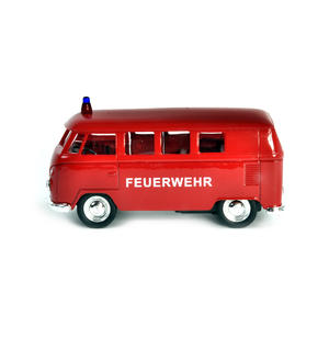 Volkswagen Camper - Red Feuerwehr German Model Fire Brigade Vehicle Thumbnail 1