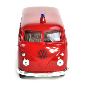 Volkswagen Camper - Red Feuerwehr German Model Fire Brigade Vehicle Thumbnail 2