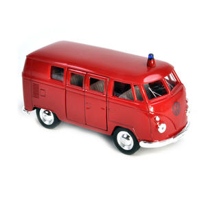 Volkswagen Camper - Red Feuerwehr German Model Fire Brigade Vehicle Thumbnail 3