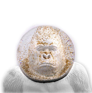 Gorilla Spaceman Snow Globe Thumbnail 2