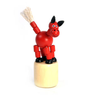 The Drunk Red Horse - Classic Wooden Collapsing Animal Thumbnail 1