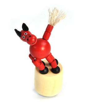 The Drunk Red Horse - Classic Wooden Collapsing Animal Thumbnail 4