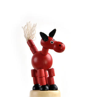 The Drunk Red Horse - Classic Wooden Collapsing Animal Thumbnail 5