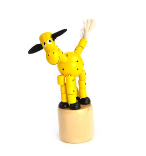The Drunk Yellow Cow - Classic Wooden Collapsing Animal