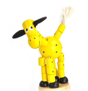 The Drunk Yellow Cow - Classic Wooden Collapsing Animal Thumbnail 2