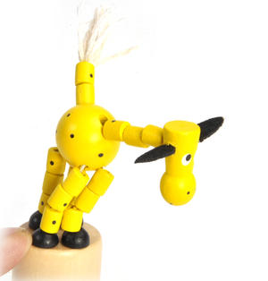 The Drunk Yellow Cow - Classic Wooden Collapsing Animal Thumbnail 4