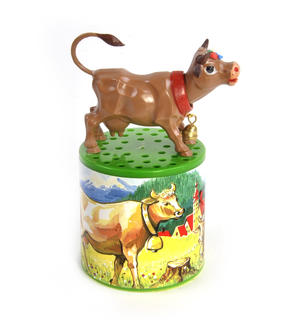 Austrian Moo Box - Classic Mooing Sound Cow - Turn Upside Down