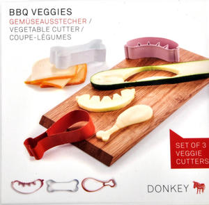 BBQ Veggies - Set of 3 Veggie Cutters Thumbnail 1