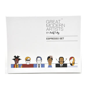 Great Modern Artists Espresso Set - Basquiat Warhol Lichtenstein / Kahlo Dali Picasso
