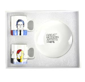 Great Modern Artists Espresso Set - Basquiat Warhol Lichtenstein / Kahlo Dali Picasso Thumbnail 2