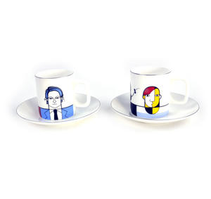 Great Modern Artists Espresso Set - Basquiat Warhol Lichtenstein / Kahlo Dali Picasso Thumbnail 3