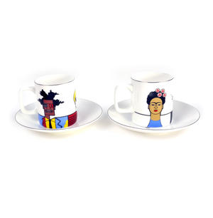 Great Modern Artists Espresso Set - Basquiat Warhol Lichtenstein / Kahlo Dali Picasso Thumbnail 4