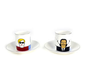 Great Modern Artists Espresso Set - Basquiat Warhol Lichtenstein / Kahlo Dali Picasso Thumbnail 5