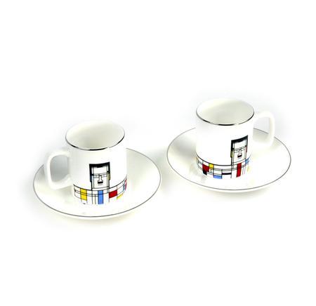 Great Modern Artists Espresso Set - Piet Mondrian