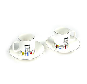 Great Modern Artists Espresso Set - Piet Mondrian
