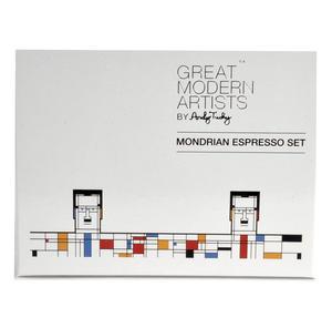 Great Modern Artists Espresso Set - Piet Mondrian Thumbnail 3