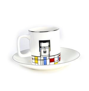 Great Modern Artists Espresso Set - Piet Mondrian Thumbnail 5