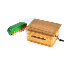 "Music Paper Fed Handcrank Wooden Music Box Set ""Das Wolferl"" (with Happy Birthday and Blank Sheets) Thumbnail 2"