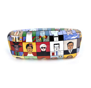 Great Modern Artists Glasses Case - Basquiat  / Kahlo /  Warhol / Mondrian / Lichtenstein / O Keefe / Picasso / Dali / Matisse with Lens Cloth Thumbnail 2