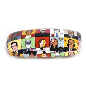 Great Modern Artists Glasses Case - Basquiat  / Kahlo /  Warhol / Mondrian / Lichtenstein / O Keefe / Picasso / Dali / Matisse with Lens Cloth Thumbnail 3