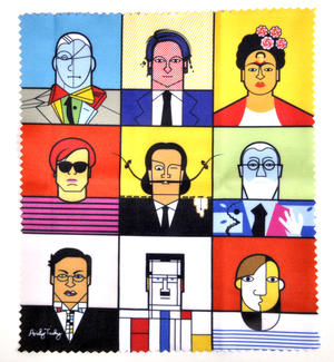 Great Modern Artists Glasses Case - Basquiat  / Kahlo /  Warhol / Mondrian / Lichtenstein / O Keefe / Picasso / Dali / Matisse with Lens Cloth Thumbnail 4