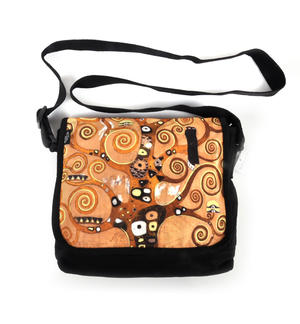 Gustav Klimt - Lebensbaum -Tree of Life / Swirls - Cross Body Messenger Bag