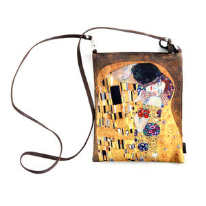 Gustav Klimt - The Kiss - Small Cross Body Bag with Detachable Strap Thumbnail 1